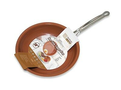 Non Stick Red Copper Steel Frying Pan Skillet 10 Inch HQ Ceramic As Seen On TV