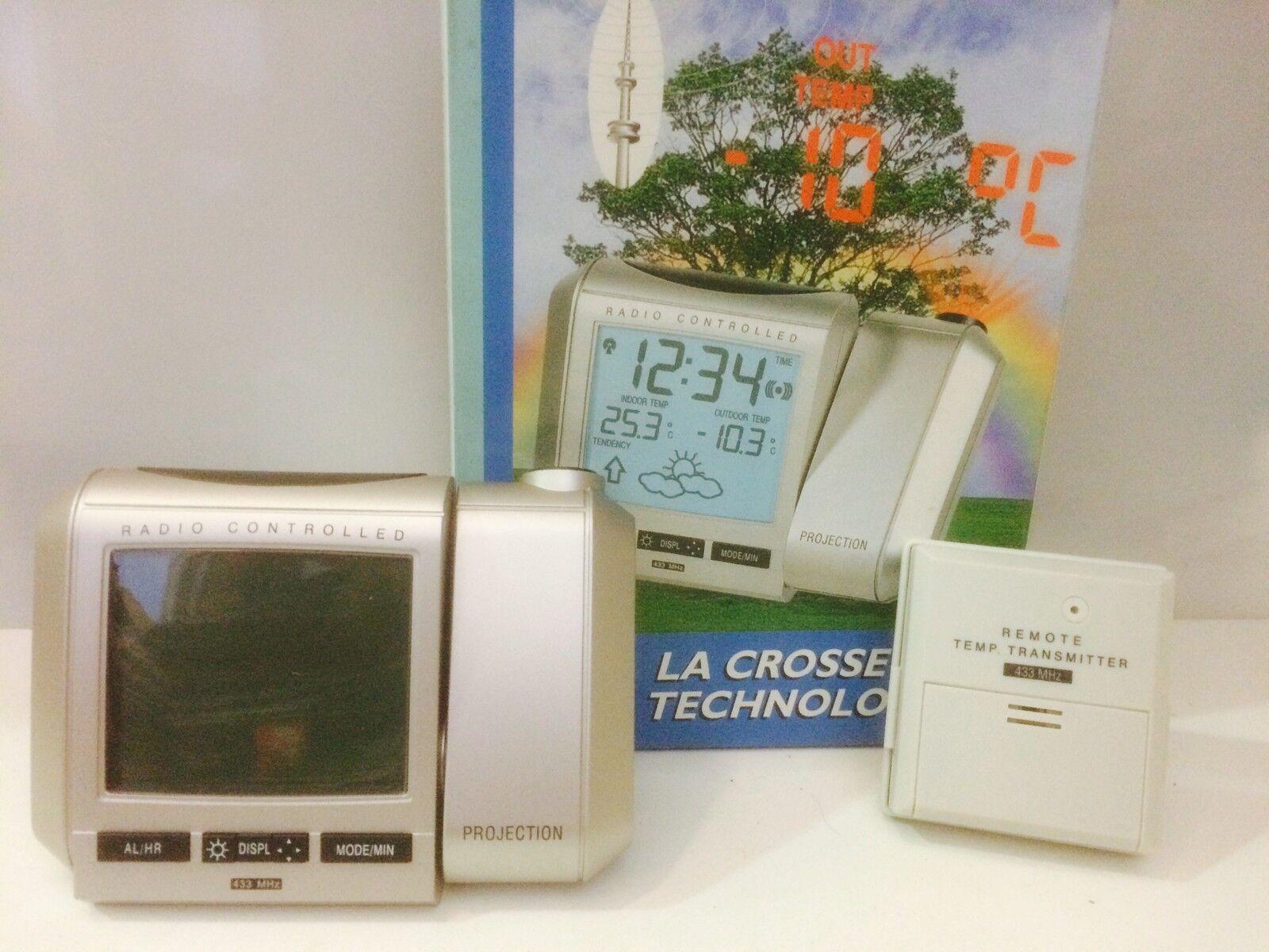 SVEGLIA RADIOCONTROLLATA  CON PROIEZIONE  LA CROSSE TECHNOLOGY  REF U42543