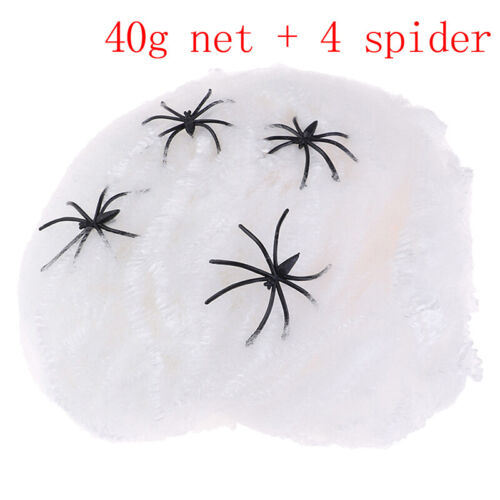 Luminous Halloween Spider Web Decors Cobweb Haunted House Black Party Decorat JG