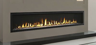 Linear Gas Fireplace >> Majestic Echelon 72 Linear Gas Fireplace W Glass Stones Led Lighting Remote 652174843855 Ebay