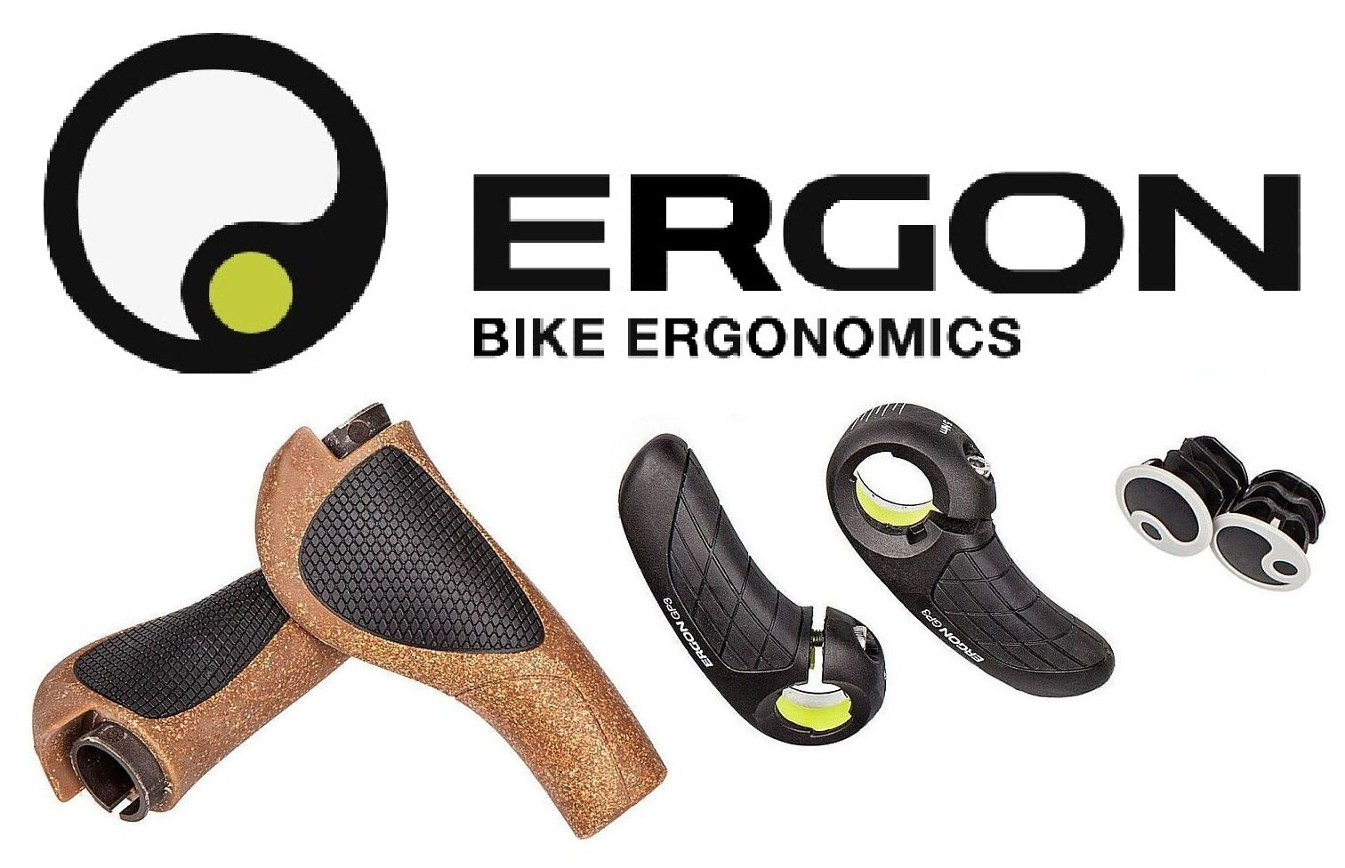 Ergon Ergon Ergon GP3- L & S Standard Grip BioKork w/Adjustble Bar end Ergo MTB /Hybrid cork 43f1e5