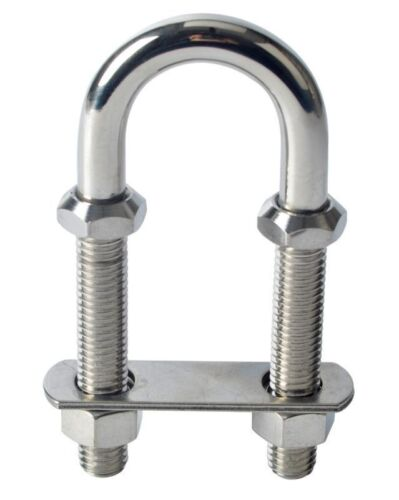 Stainless Marine Grade Bow Eye//U Bolt Security Loop Tie Down Boat Tow by 7 Sizes