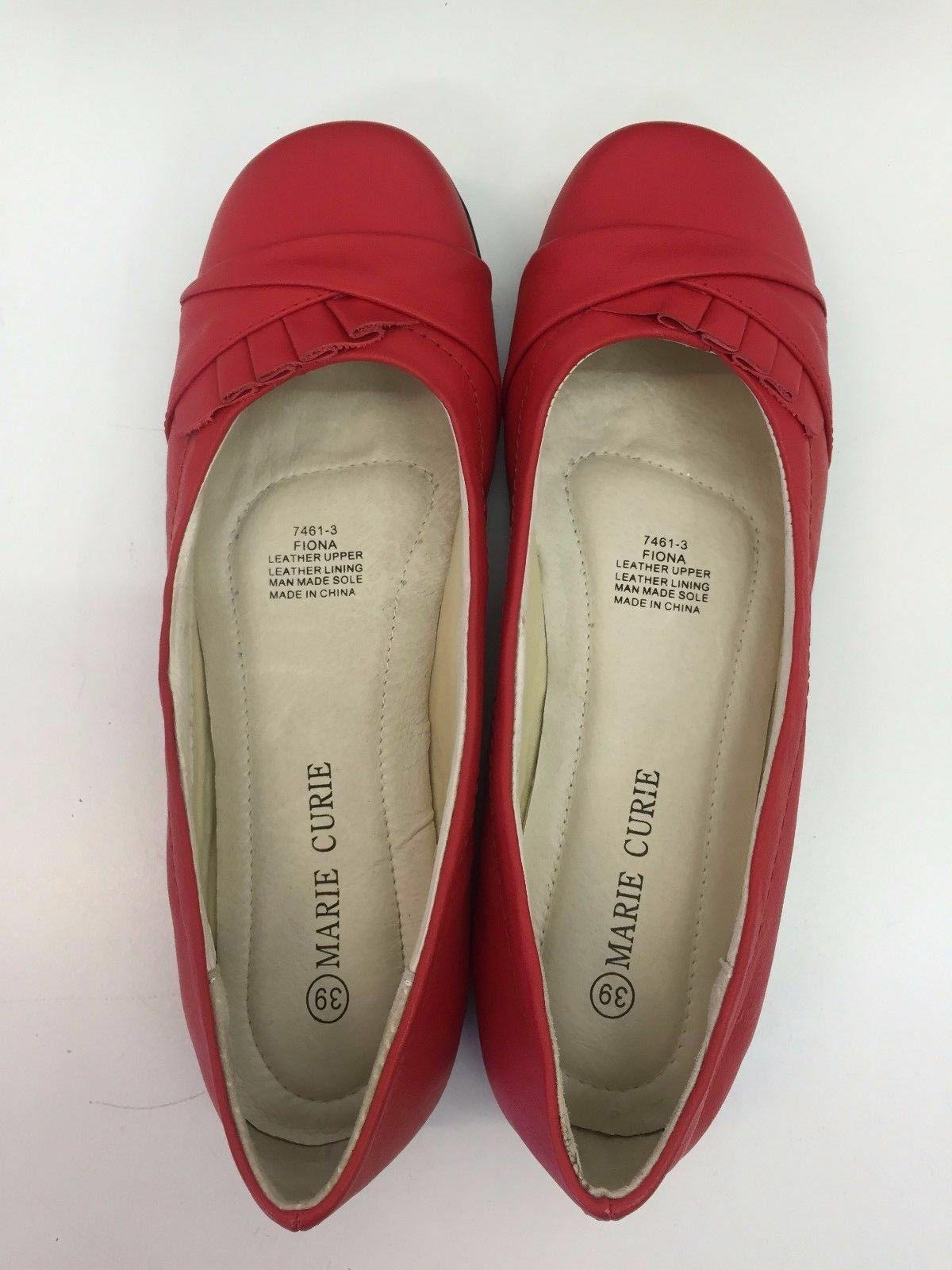 Brand New Women Flat Shoes shoes leather Comfortable shoes Shoes RED 941646