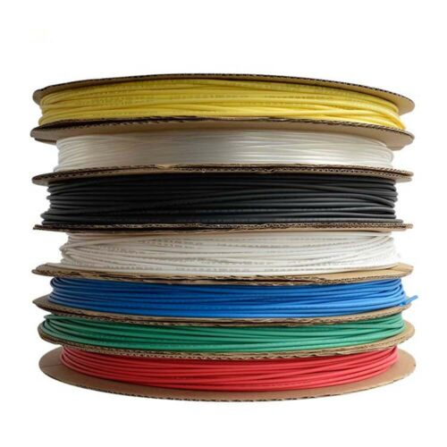 0.8mm 2:1 Heat Shrink Tubing Heatshrink Tube Wire Cable Sleeving Wrap White Red