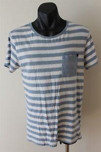 Quicksilver-Striped-Men-039-s-T-Shirt-Size-Small