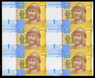 SMOLIY Unc UKRAINE NEW DATE AND SIGNATURE SET 2 NOTES 1 /& 2 HRYVEN 2018 sign