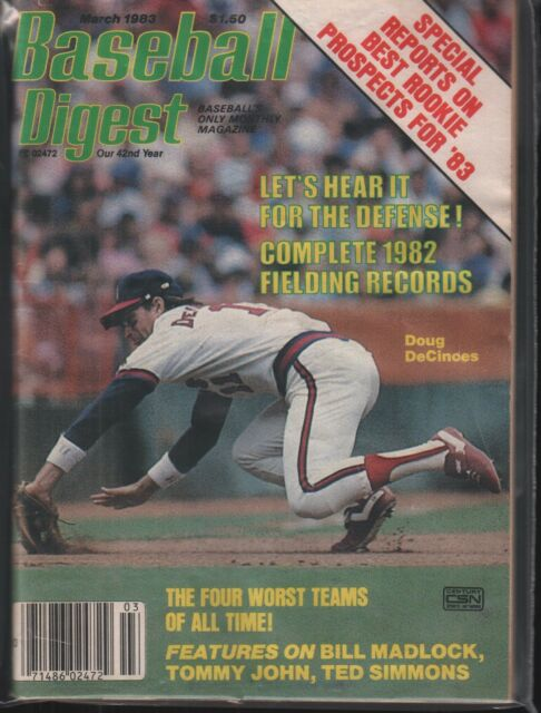 Baseball Digest March 1983 Doug DeCines Bill Madlock 101718ame