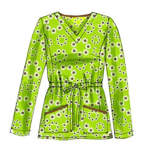 Mccalls patrones de corte m6473-blusa-pantalones-señora