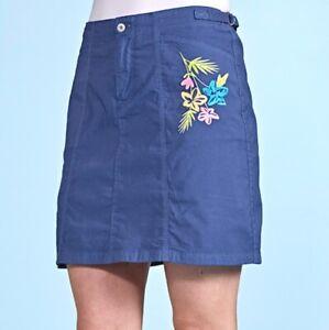 FRESH PRODUCE XL Moonlight Blue AVERY Stretch OCEANSCAPE Shirttail Skirt $65 NWT