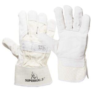 6-Paar-LEDER-Handschuhe-Rindnarbenleder-SUPERBULL-3-Arbeitshandschuhe
