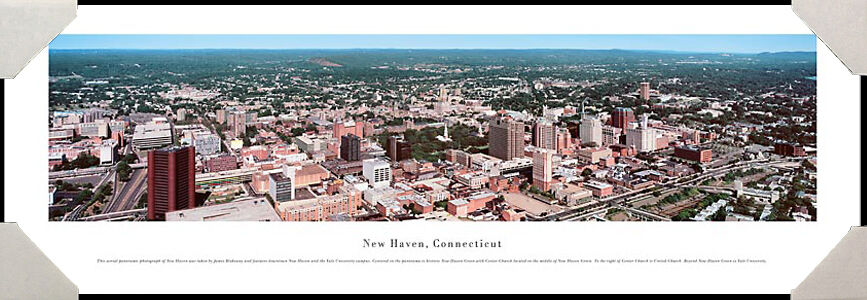 New Haven, Connecticut City Skyline Yale University Framed Poster Picture I