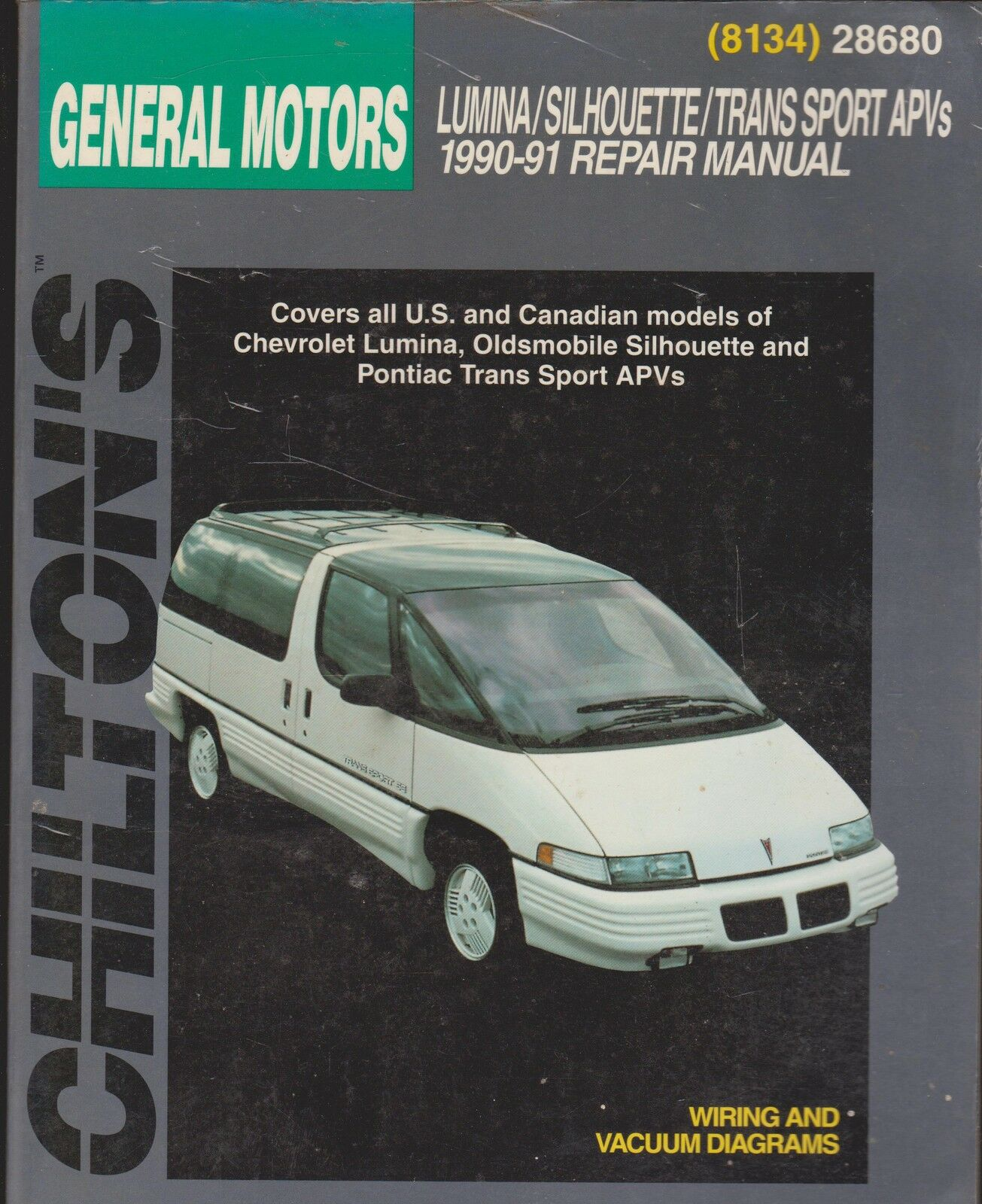 Chevrolet Lumina Pontiac Transport Olds Silhouette 1990 91 By Wiring Diagram Chilton Editors 1991 Paperback Ebay