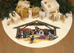 Dimensions Cross Stitch Kit - Nativity Scene Tree Skirt