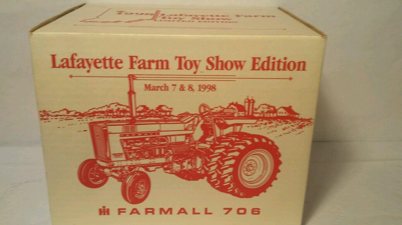 ERTL Farmall 706 con dauls 1/16 Diecast Metal Tractor de Granja réplica Coleccionable