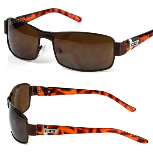 DG Eyewear Mens Rectangular Wrap Around Retro Sunglasses Fashion Designer Camo