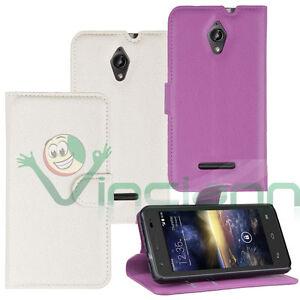 Custodia-Flip-cover-pr-Vodafone-Smart-4-4G-turbo-case-martellata-stand-eco-pelle