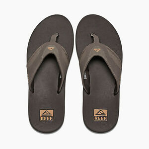 4b3b0c4ed Reef Sandals - Men s Flip Flops - Fanning - Brown Gum - RF002026 ...