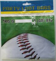 8 Baseball Party Bags Loot Birthday Party Favors Candy Kids Children Sports