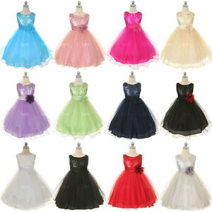 Flower-Girl-Infant-Toddler-Dress-Birthday-Wedding-Pageant-Bridesmaid-Tulle-Prom