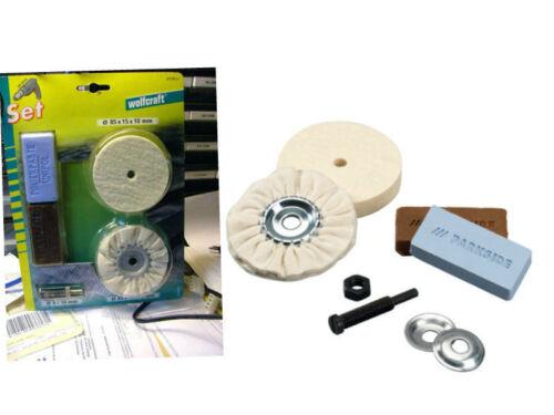 2 pate a polir Kit metal chrome jumo bakelite kit disques feutre de polissage