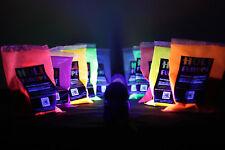 4 x NEON Holi Pulver - Festival Farbbeutel - Fotoshooting Faben LEUCHTEN