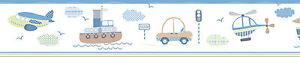 Essener-Tiny-Tots-g90120-Ribete-Bote-Avion-Autobus-Auto-ribetes-Habitacion-Ninos