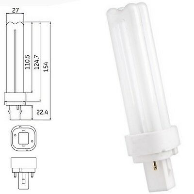 12863 2 GE Biax D F18DBXT4//SPX35//835 Double Tube 2 Pin Base CFL Bulbs TWO