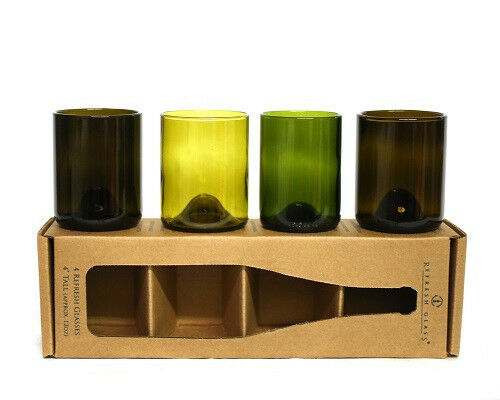 12oz Refresh Glass Recycled Wine Bottle Glassware
