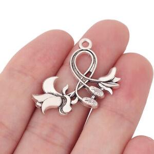 100Pcs Tibetan Silver Lotus Flower Charms Pendant For Jewelry Making 16mm