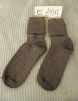 From Peru Alpaca Blend Ankle Dress Calf Socks Brown Preteen Teen Size 7 - 8