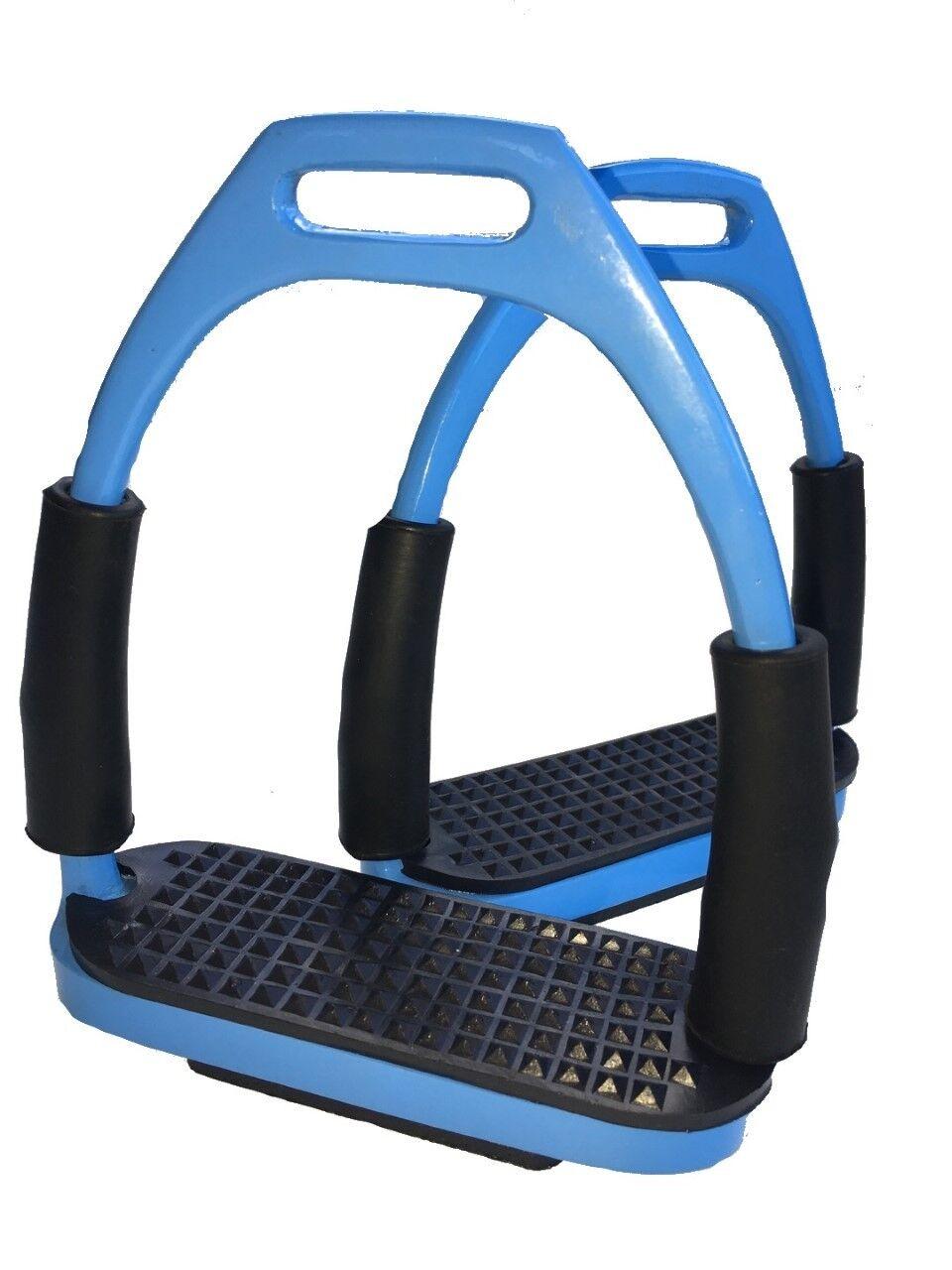 Stirrups  Sky bluee Flexi Stirrups Stainless Steel bluee Safety Stirrups  the best after-sale service