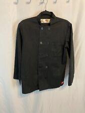 Dickies Chef Jacket Xs 3234 Plastic Button Black Uniform Chef