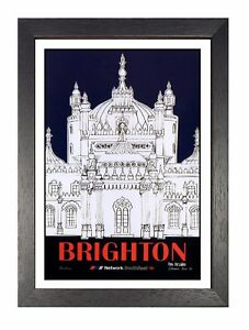 Brighton-Travel-Holiday-Beautiful-View-Poster-East-Sussex-Advert-Picture-Print