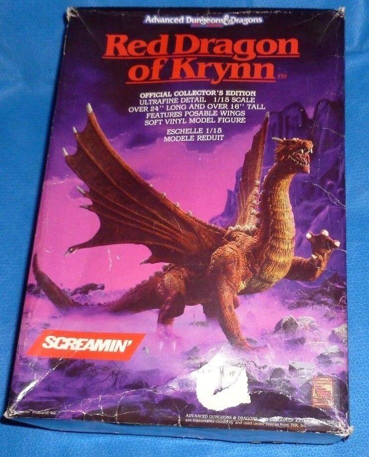 AD &D Röd drake av Krynn Vinyl Figur TSR Dungeons &drake s (det är HUGE )1  15
