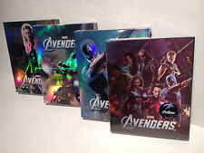 The Avengers Novamedia one-click steelbook set w/ BONUS covers and stands