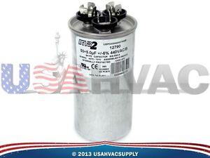 Motor Dual Run Capacitor Round 50 5 Uf Mfd 440 Volt Mars