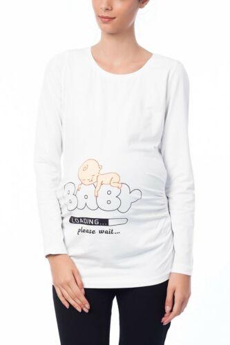 Umstandsmode Sweatshirt Motiv Schwangerschaft Geschenk Süßen Aufdruck BV12