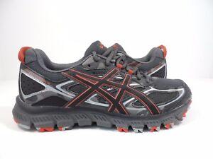 43aaf7a881b3 ASICS Men s Gel-Scram 3 Trail Runner Dark Grey Black Red Clay Size 7 ...