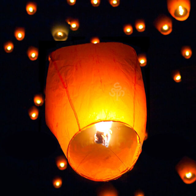 Fire FLOATING Fire LANTERN for Memorial Party Sky Flying Lanterns Multi Colors
