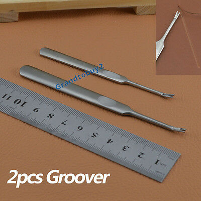 2x Pro Stitching Groover Grooving/Edge Beveller Leathercraft Leather Craft Tool