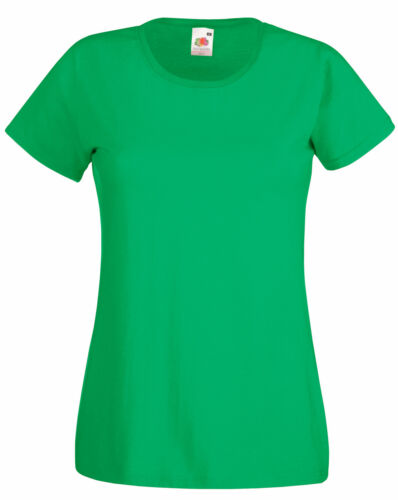 3 FRUIT OF THE LOOM LADY FIT T SHIRT 11 COLS ALL SIZES
