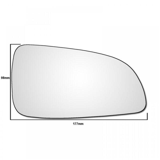 Vauxhall Astra H Mk5 Hatchback 2004-2009 Heated Convex Mirror Glass Passenger LH