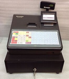 sharp xe a217b electronic cash register with free p p ebay. Black Bedroom Furniture Sets. Home Design Ideas