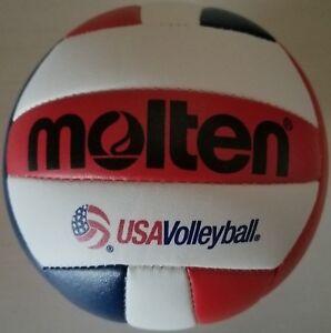 Molten-Mini-Volleyball-V200-3USA-Red-White-Blue-Small-size-5-5-034-replica