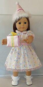 "It's My Birthday Dress/Shoes 6pc Set Fits 18"" American Girl Dolls"