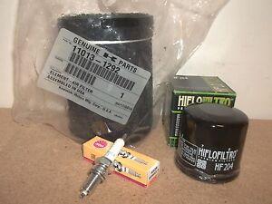 Tune Up Kit Air Filter Oil Filter Spark Plug ATV for Kawasaki Prairie KVF360