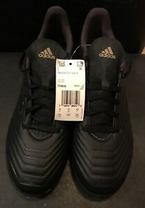 Adidas-Predator-19-4-TF-Turf-Soccer-Shoes-Cleats-Black-F35635-Men-039-s-Size-8-5-New
