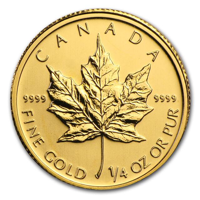 2010 Canada 1/4 oz Gold Maple Leaf BU - SKU #57230