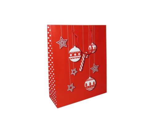 SMALL MEDIUM LARGE WHOLESALE **NEW** CHRISTMAS GIFT BAGS PAPER 12 PACK