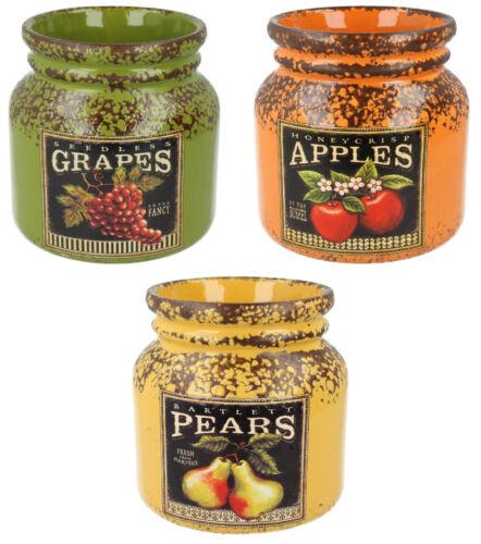 Lp27628-Lesser /& Pavey fruits en céramique pots ronds-grand prix!